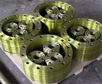 Solid steel flange